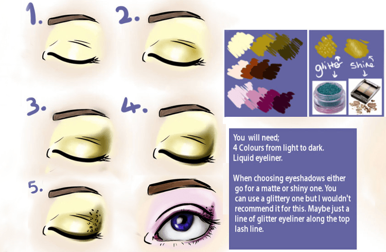 Simple Steps of animal print eyeshadow