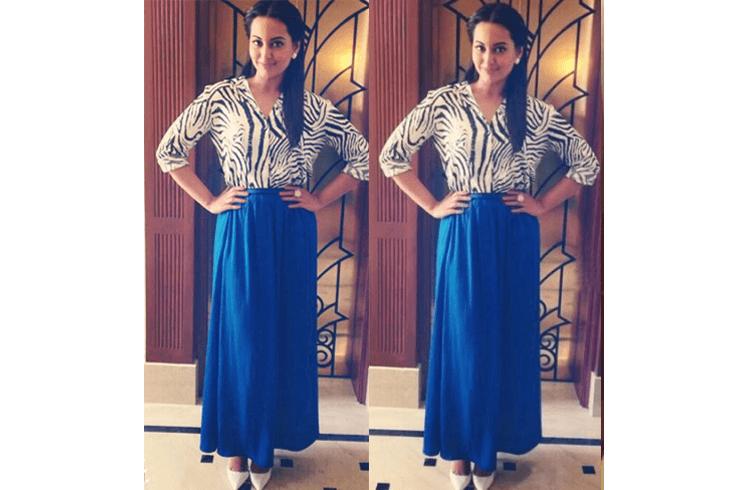 Sonakshi Sinha in maxi skirt