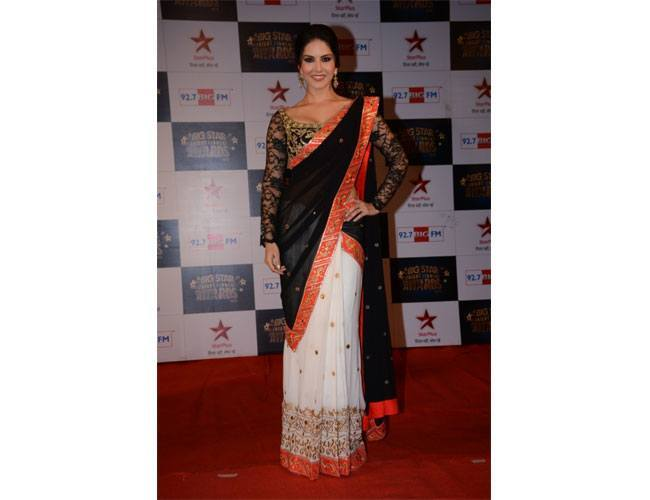 The Black and White Saree