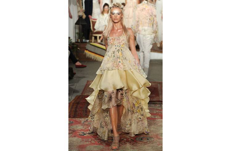 Nude Tones are trendy at fashion Bridal Week