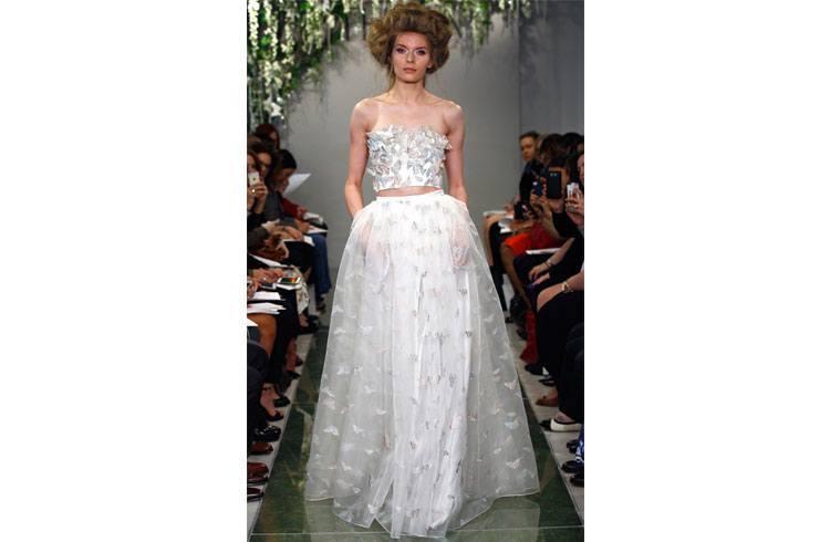 Crop Top and Lehenga for Bridal Fashion