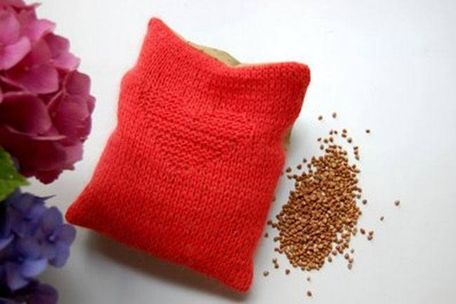 pillow with buckwheat