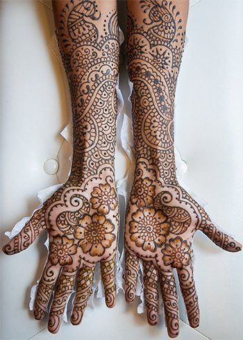 Best Full Hand Punjabi Mehndi Ideas