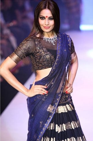 Bipasha Basu In A Designer Sheer Choli Pattern