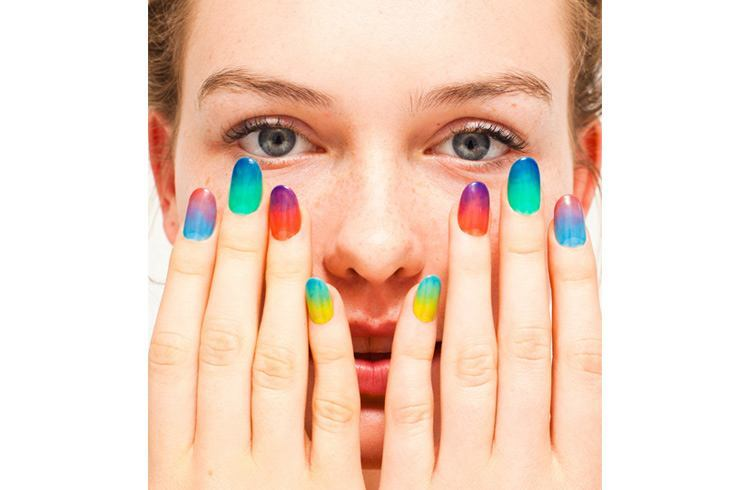 Bright and very vibrantly coloured nail polish