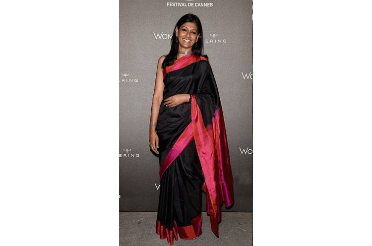 Nandita Das black saree at Cannes 2015