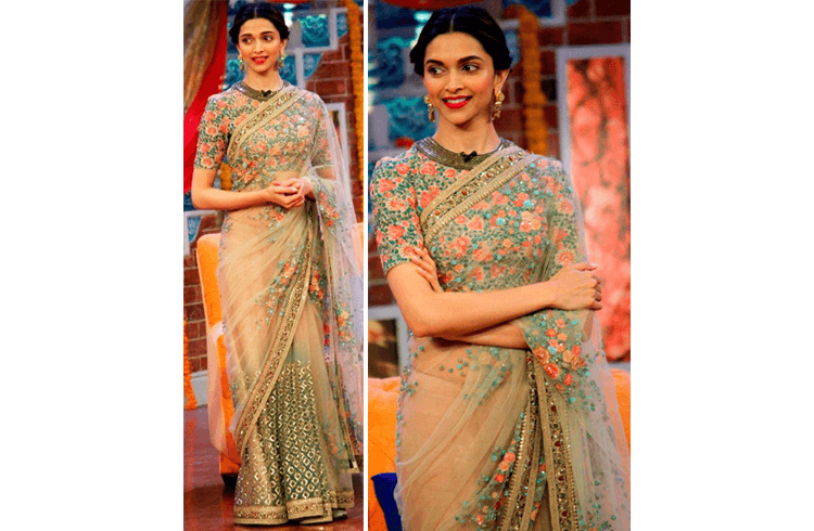 Deepika Padukone on the sets of Comedy Nights with Kapil for Piku promotions
