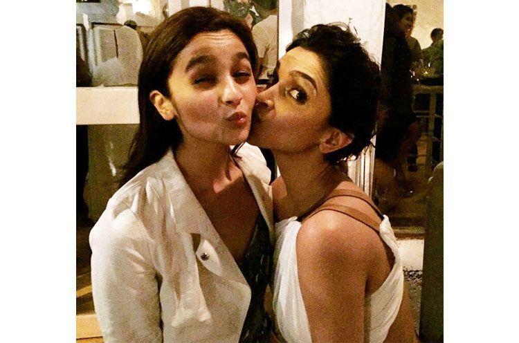 Deepika Padukones Adorable Kiss To Alia Bhatt
