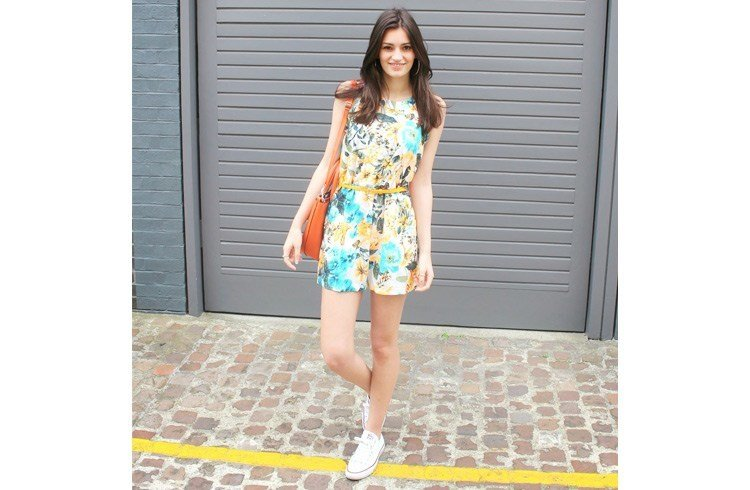 Florals dress in summer for office