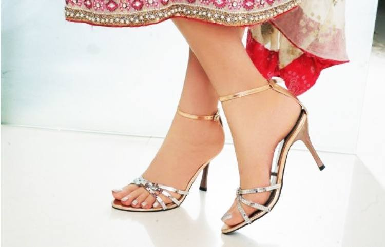 High Heels for traditional sarees