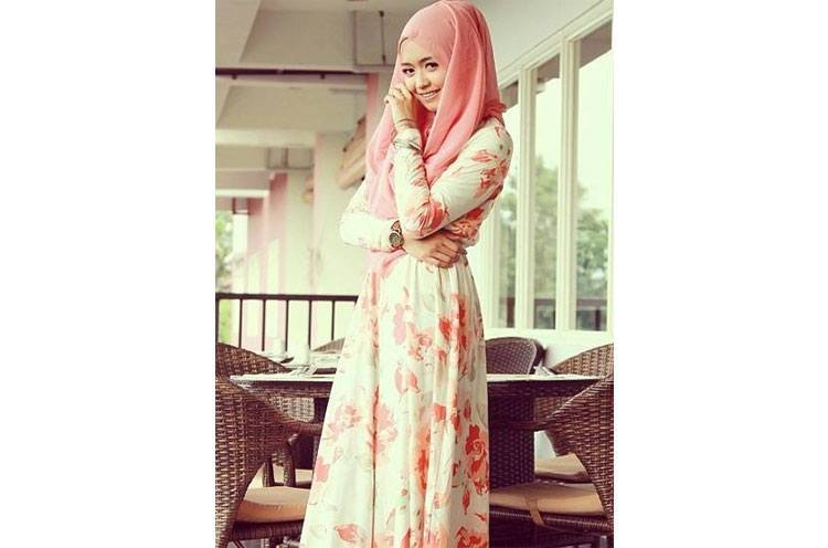 Hijab with Maxi Dress