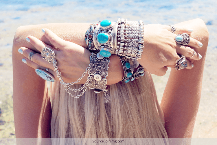 How to Wear Silver Boho Bangle Bracelets