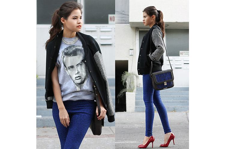 How to Wear T-Shirts with Heels