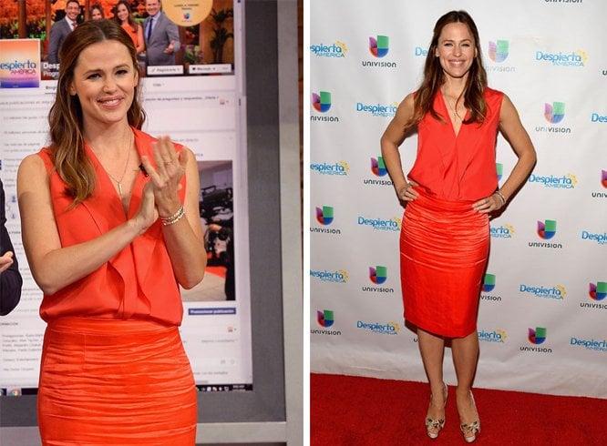 Jennifer Garner with Broad Shoulders Dresses