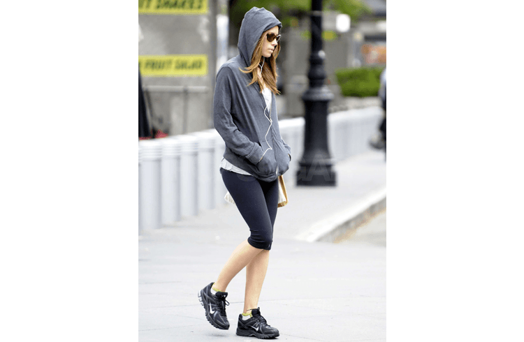 Jessica Biel workout dress