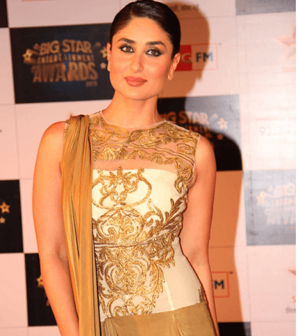 Kareena Kapoor in boat neck blouse with lehenga