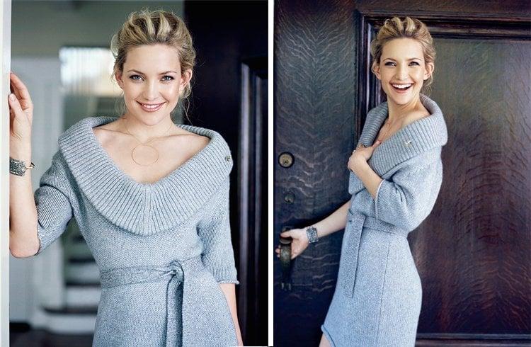 Kate Hudson with Wide Shoulder Fashion
