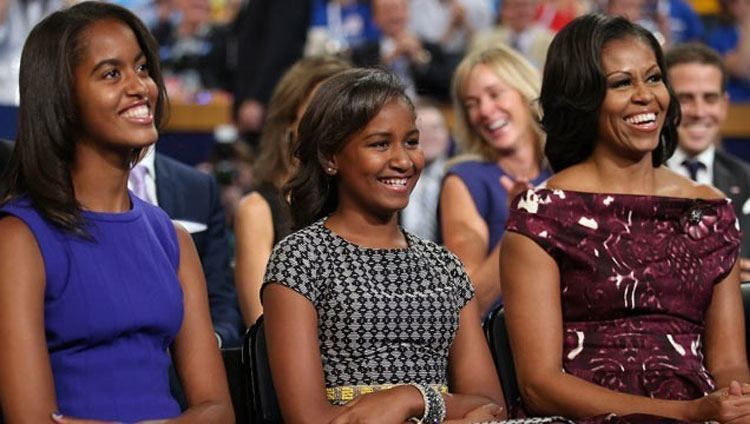 Michelle, Sasha and Malia Obama at Mothers day