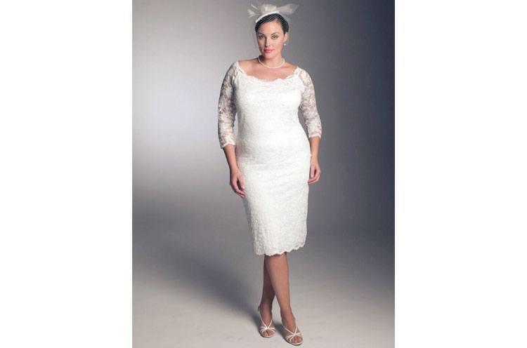 Neck Lace Corset Plus Size Bride Dress for Wedding