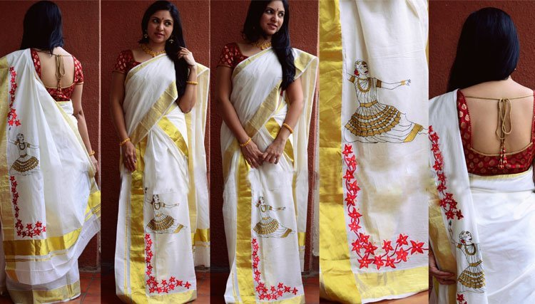 Set Saree With Brocade Blouse