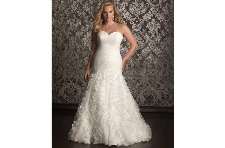 Sheath Plus Size Wedding Dresses