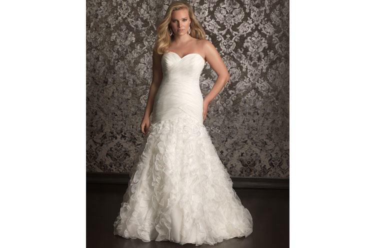 Sheath Plus Size Wedding Dresses