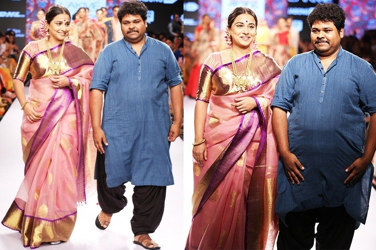 Showstopper Vidya Balan with Designer Gaurang Shah at Lakme Fashion Week 2105