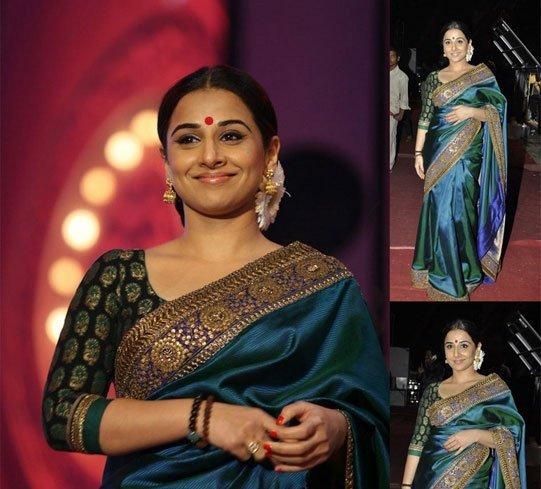Silk Saree With Brocade Blouse