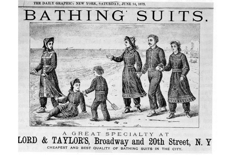 Women's Bathing Suits in Mid 18th century