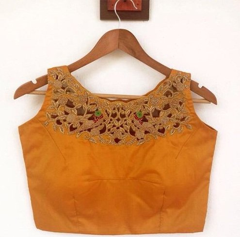 Boat Neck Saree Blouse