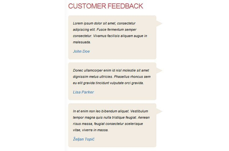 customer feedback for online shopping