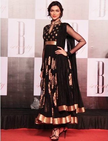 Deepika in black churidar