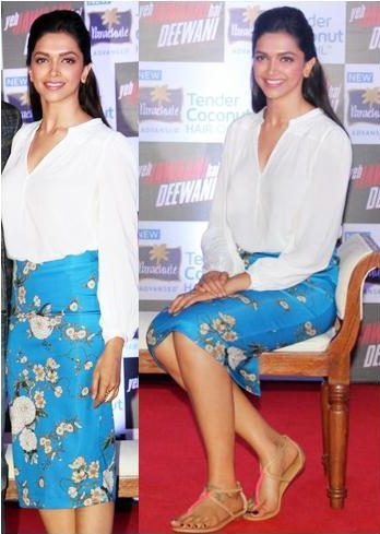 Deepika in zara top and skirt