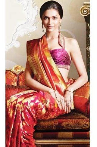 Deepika Padukone Teaching How to Wear Sari