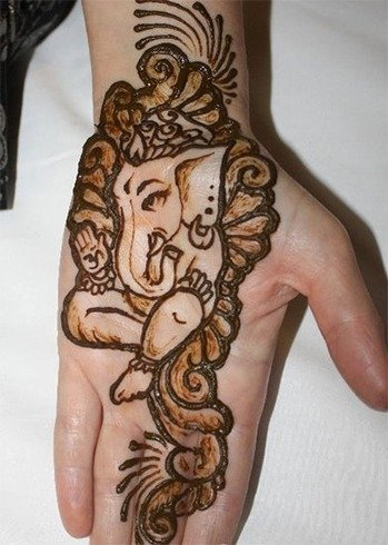 Top Happy Ganesh Chaturthi Heena Pictures for free download