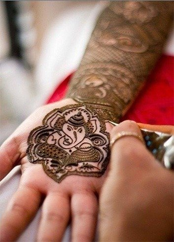 Ganesh mehndi designs for bride