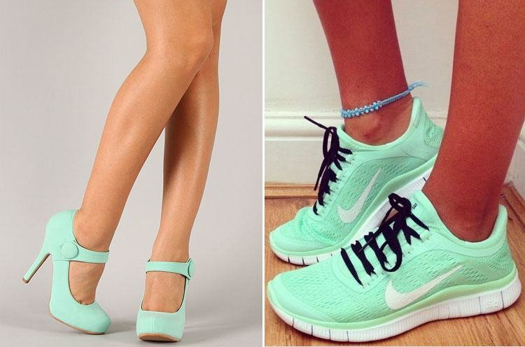 green Mint in Footwear