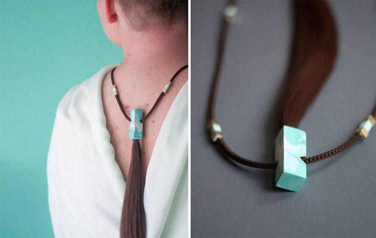 jewellery from cancer patients' hair