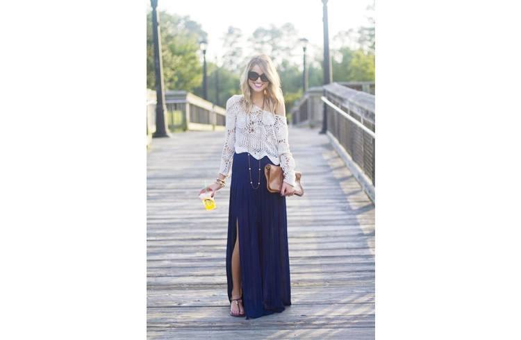 Long Slit Skirts