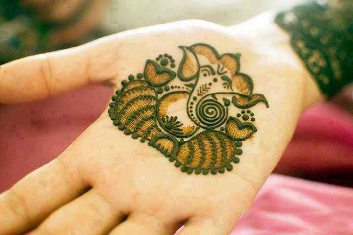 Lord ganesh henna design