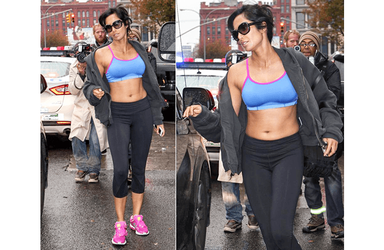 Padma Lakshmi in Workout dress