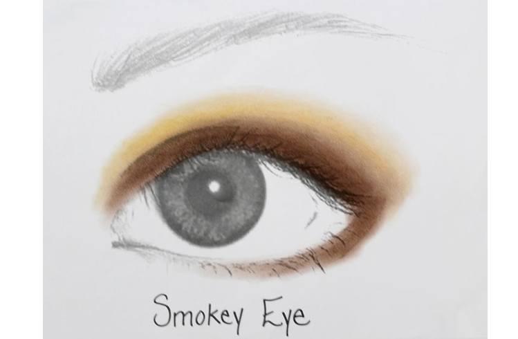 Smokey eye shadow