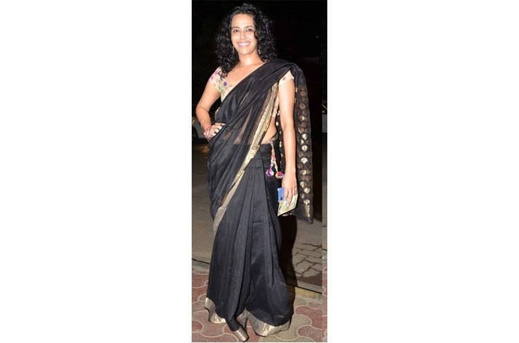 swara bhaskar mukesh chhabra birthday bash saree