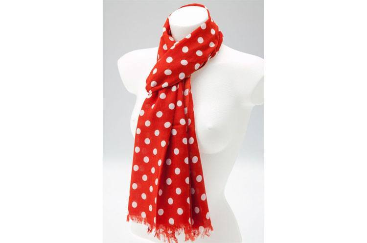 womens polka dot scarf