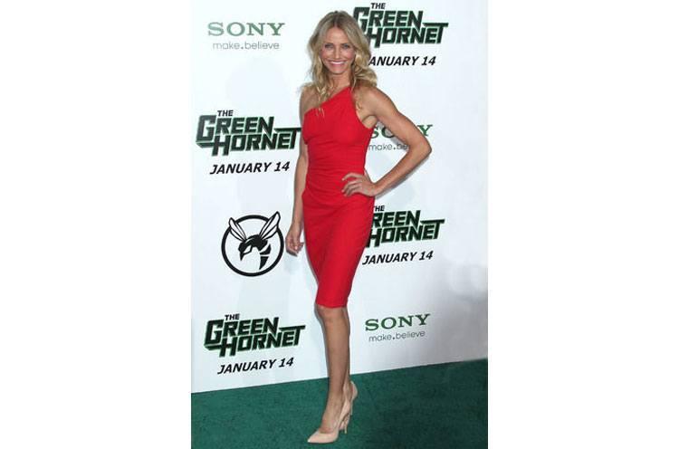 Cameron Diaz little red dress