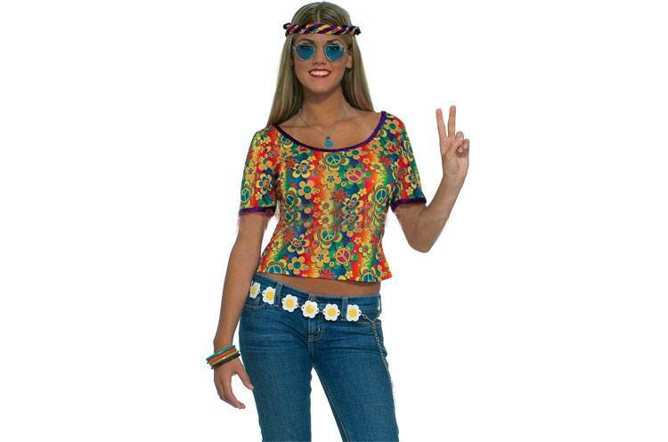 Chic Desi Psychedelic crop tops