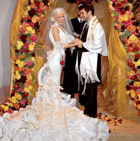 Christina Aguilera Wedding Costume