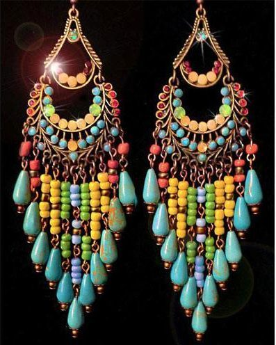 Colorful and Creative Drop Earrings