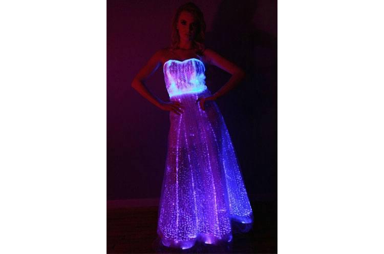 Fiber Optic Gown Dress for womens