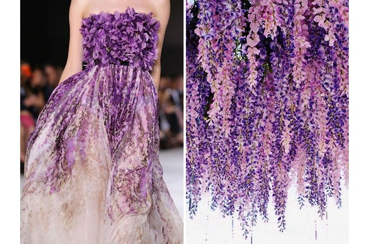 Giambattista Valli and Wisteria